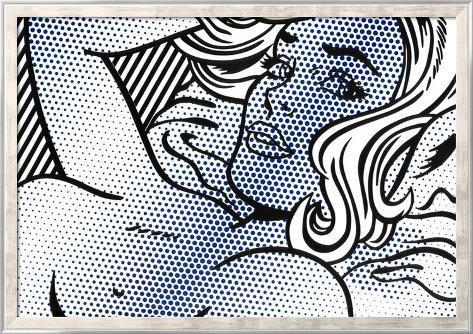 Seductive Girl Framed Art Print