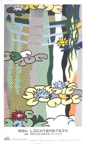 Water Lilies with Japanese Bridge Art Print