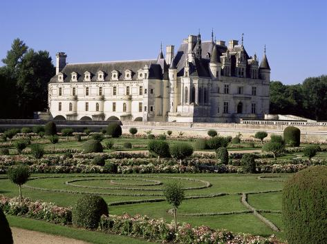 Chateau of Chenonceau and Garden, Touraine, Loire Valley, Centre, France Photographic Print