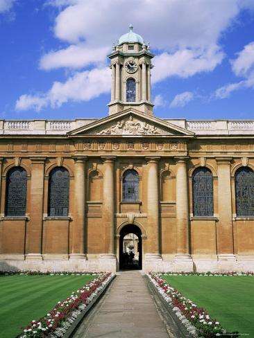 Queens College, Oxford, Oxfordshire, England, United Kingdom Photographic Print