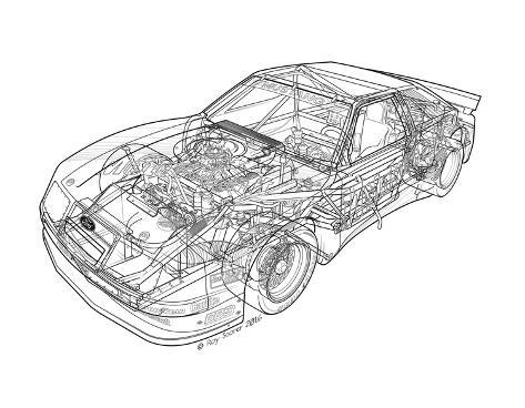 1985 Roush Protofab Ford Mustang GTO Giclee Print
