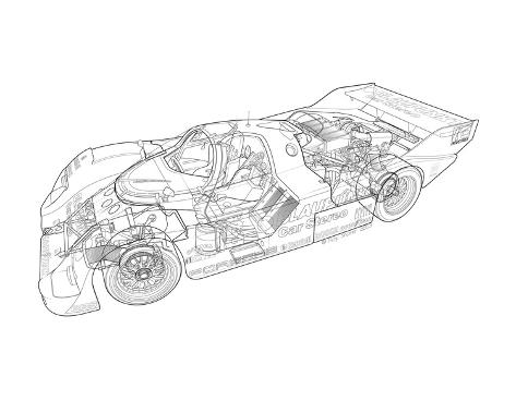 1986 Porsche 962 Giclee Print