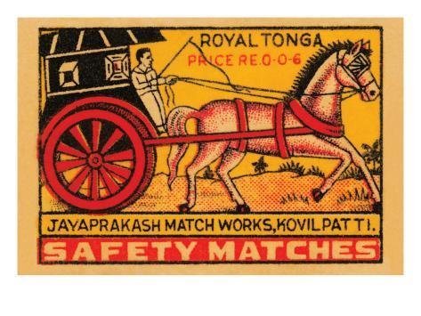 Royal Tonga Safety Matches Art Print