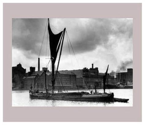 Royal Victoria Docks Docklands London Barge, 1934 Art Print