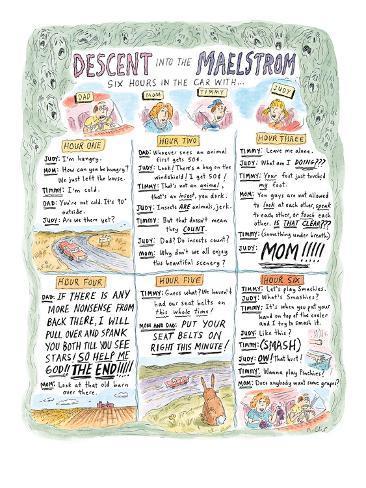 Descent Into The Maelstrom - New Yorker Cartoon Premium Giclee Print