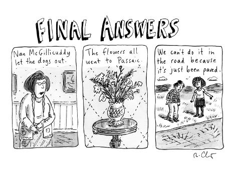 Final Answers - New Yorker Cartoon Premium Giclee Print