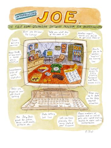 Introducing Joe®:  The First Home-Organizing Software for Underachievers - Cartoon Premium Giclee Print