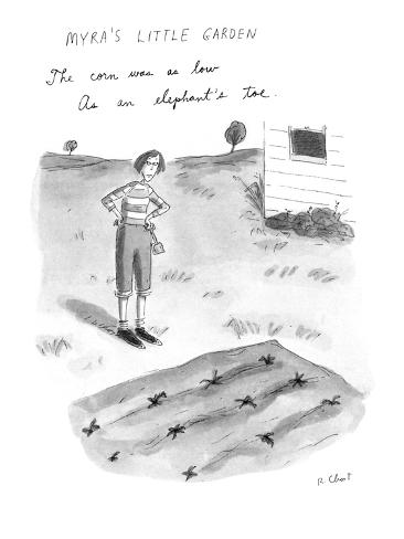 Myra's Little Garden - New Yorker Cartoon Premium Giclee Print