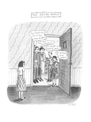 The Entire Family - New Yorker Cartoon Premium Giclee Print