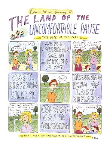 The Land of the UNCOMFORTABLE PAUSE - New Yorker Cartoon Premium Giclee Print