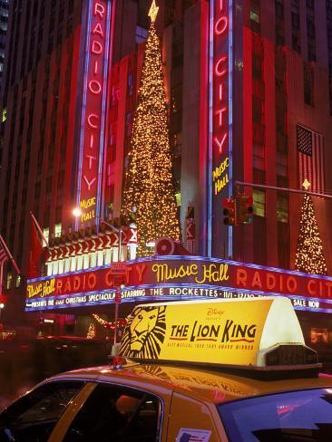 Cab at Radio City Music Hall Photographic Print