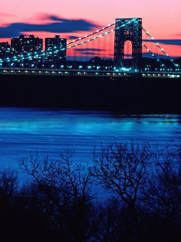 George Washington Bridge, Hudson River, NY Photographic Print