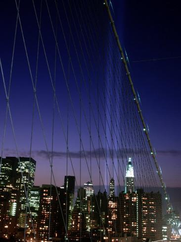 World Trade Center Memorial Lights, New York City Photographic Print