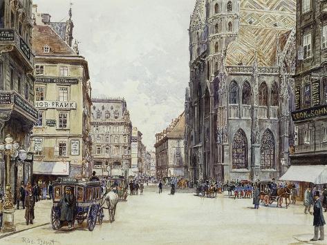 Stefanplatz, Vienna Giclee Print