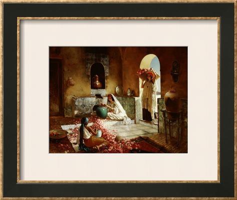 Gathering of Roses Framed Giclee Print
