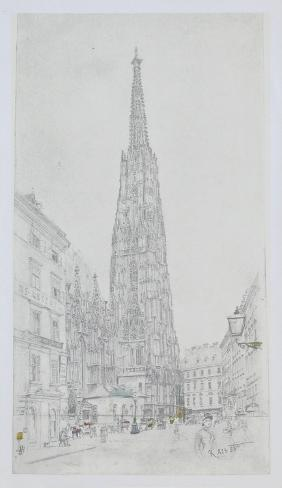 Cathedral St Stephan in Vienna Collectable Print