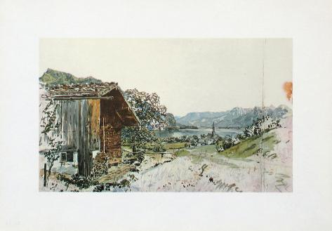 St. Gilgen at the Lake Wolfgangsee, Salzkammergut Collectable Print