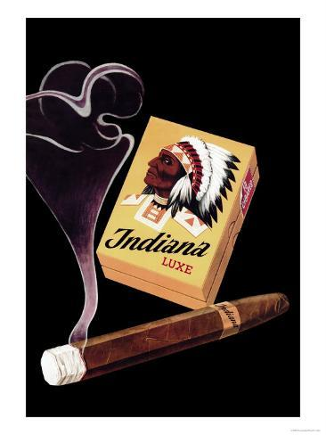 Indiana Luxe Cigars Art Print