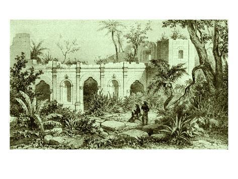 Ruins of a Jesuit Church, Paraguay Stretched Canvas Print