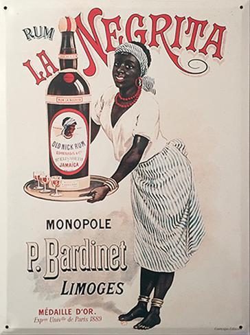 Rum la Negrita Plåtskylt