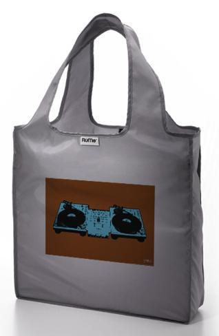 RuMe Steez Turntables Reusable Tote Bag - Cool Grey Tote Bag
