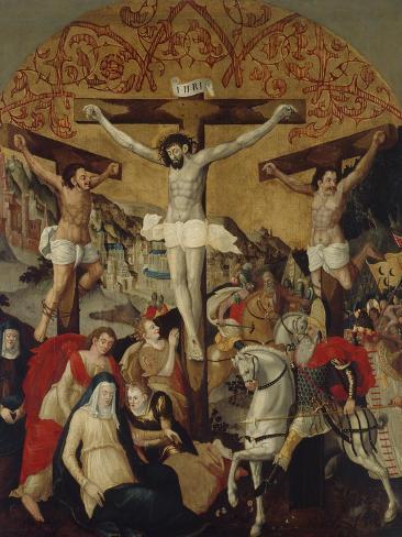 Crucifixion Scene, C.1530-60 Lámina giclée