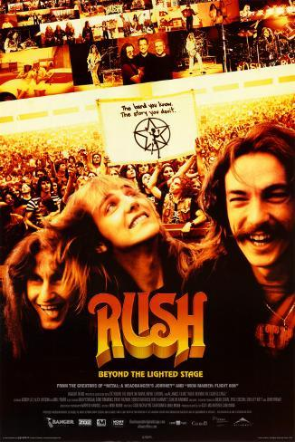 Rush - Beyond the Lighted Stage - DVD Cover Art Poster