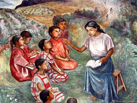 Arturo Garcia Bustos's Murals Adorn the Walls of the Presidential Palace, Oaxaca, Mexico Photographic Print