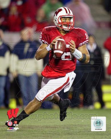 Russell Wilson University of Wisconsin Badgers 2011 Action Photo