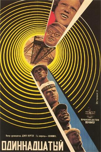 Russian 11th Film Poster Art Print
