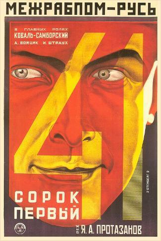 Russian 41st Film Poster Art Print