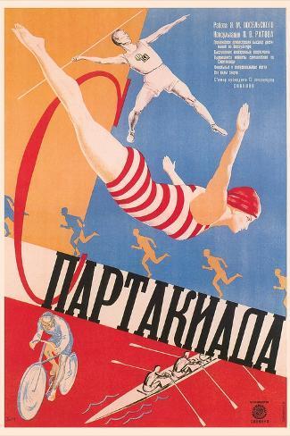 Russian Athletes Film Poster Art Print