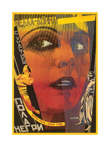 Russian Bella Donna Film Poster Art Print