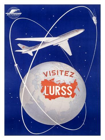 Russian CCCP Airways Aviation Giclee Print