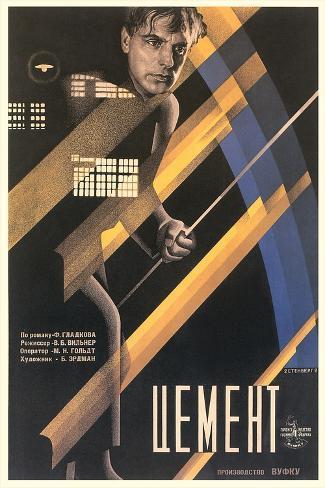 Russian Cement Film Poster Art Print