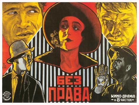 Russian Film Poster Art Print