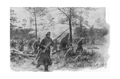 Russian Infantry Charging During Brusilov's Offensive Against Austria-Hungary, World War I, 1916 Giclee Print