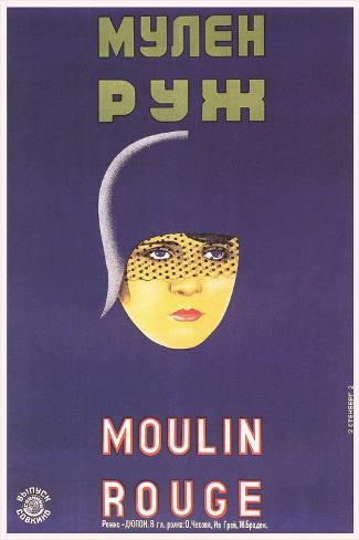 Russian Moulin Rouge Film Poster Stampa artistica