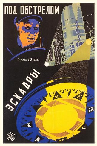 Russian Navy Film Poster Stampa giclée premium