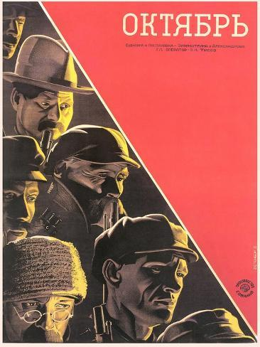 Russian October Film Poster Art Print
