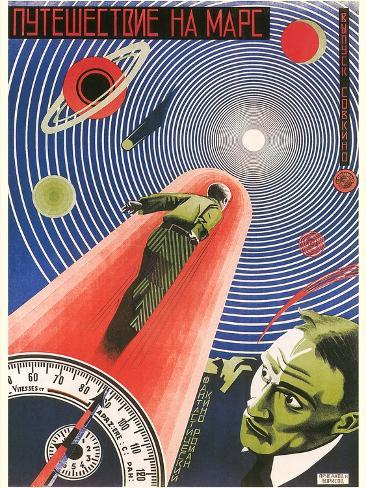 Russian Space Film Poster Premium Giclee Print