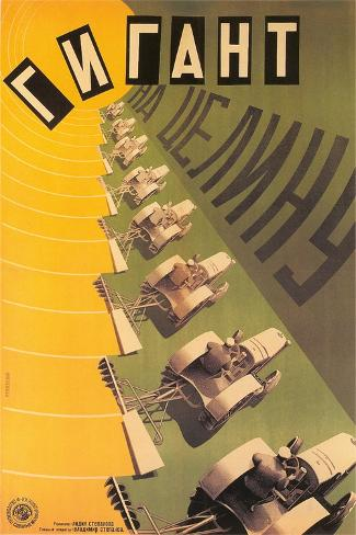 Russian Tractor Film Poster Stampa artistica