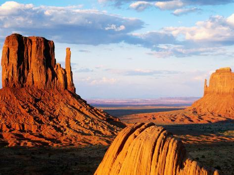 West and East Mitten Buttes, Monument Valley Navajo Tribal Park, U.S.A. Photographic Print