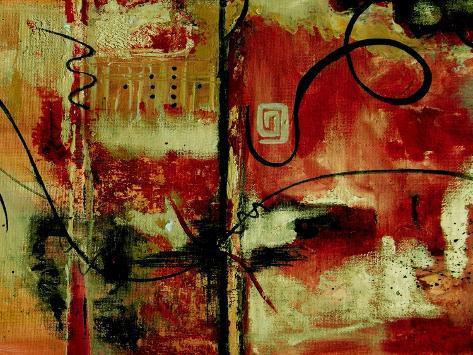 Crimson and Copper II Art Print