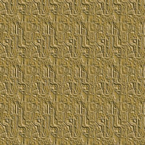 Gold Embossed Tile Art Print