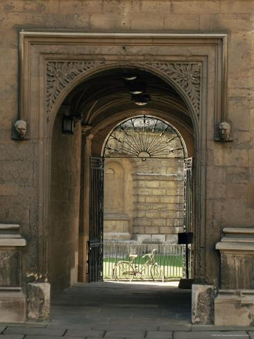 Archway Leading to the Bodleian Library, Oxford, Oxfordshire, England, United Kingdom Photographic Print