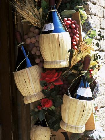 Display of Local Wine for Sale, Siena, Tuscany, Italy Photographic Print