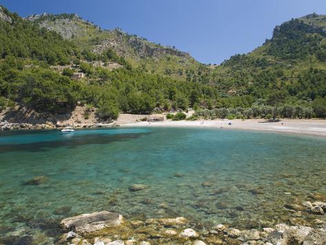 View across the Turquoise Waters of Cala Tuent Near Sa Calobra, Mallorca, Balearic Islands, Spain,  Photographic Print