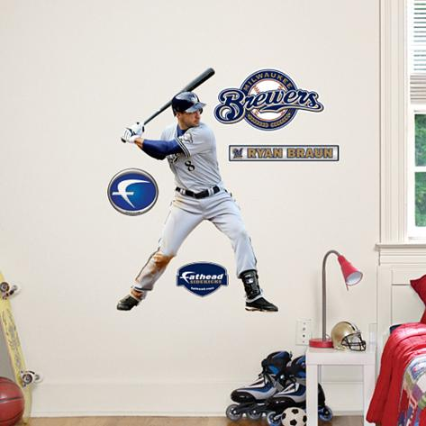 Ryan Braun - Fathead Junior Wall Decal