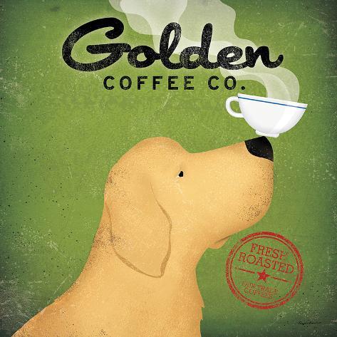 Golden Dog Coffee Co. Art Print